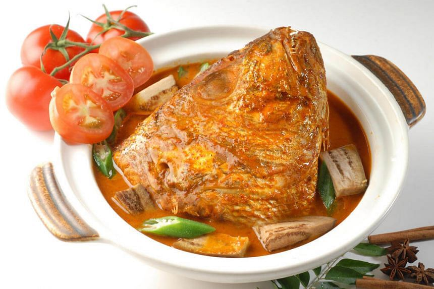 Fish head curry from Samy's Curry, an Indian restaurant at Dempsey Road.