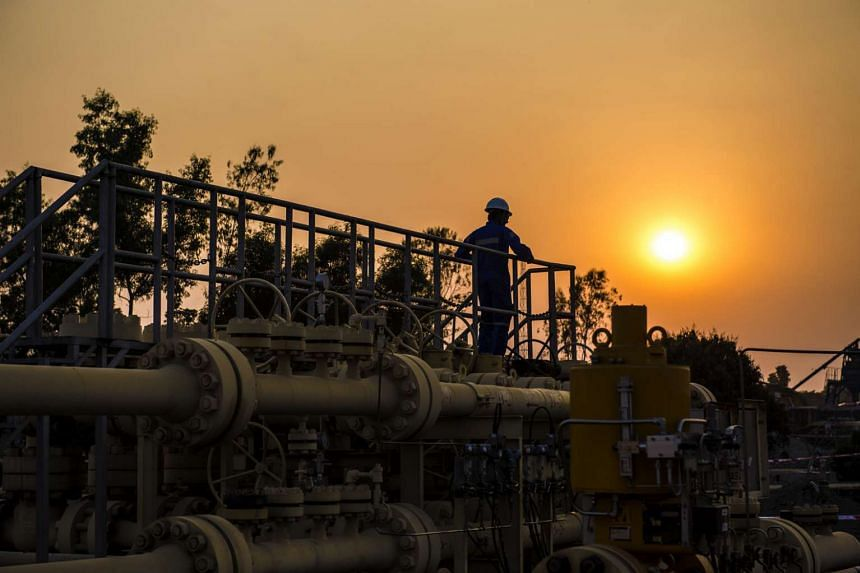 Sunset at the Bangora gas field operated by KrisEnergy, a Singapore-listed firm in Bangladesh.