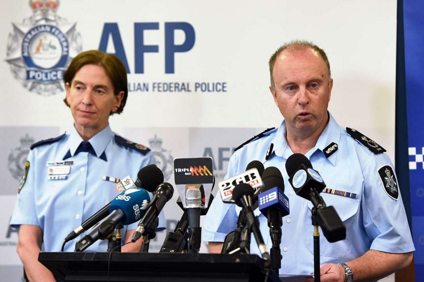 Australian Federal Police assistant commissioner for counter terrorism Neil Gaughan (right) at a press conference with New South Wales Police Commissioner Catherine Burn in Sydney on Nov 3, 2016.