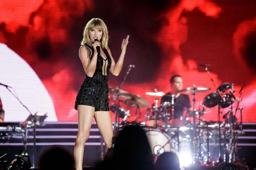 Taylor Swift performs during the Formula 1 United States Grand Prix at Circuit of The Americas.