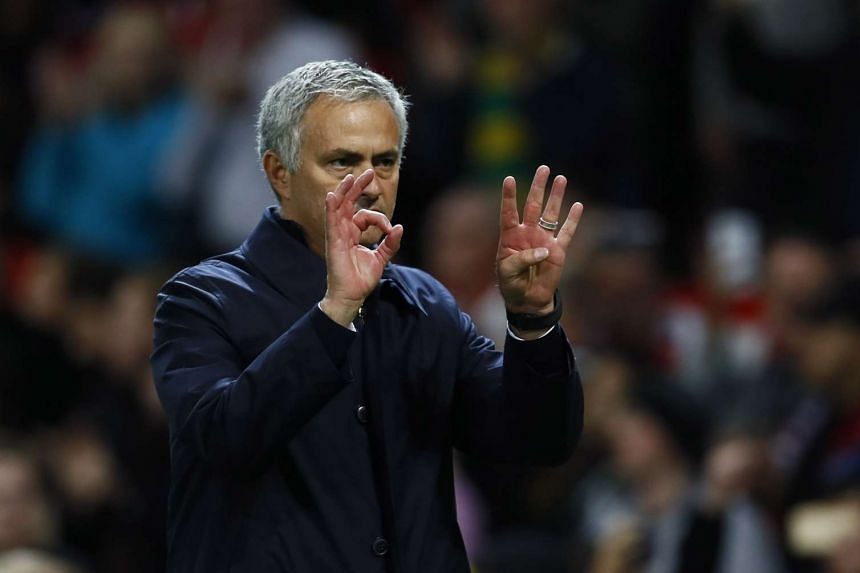 Manchester United manager Jose Mourinho after the match at Old Trafford on Oct 26, 2016.