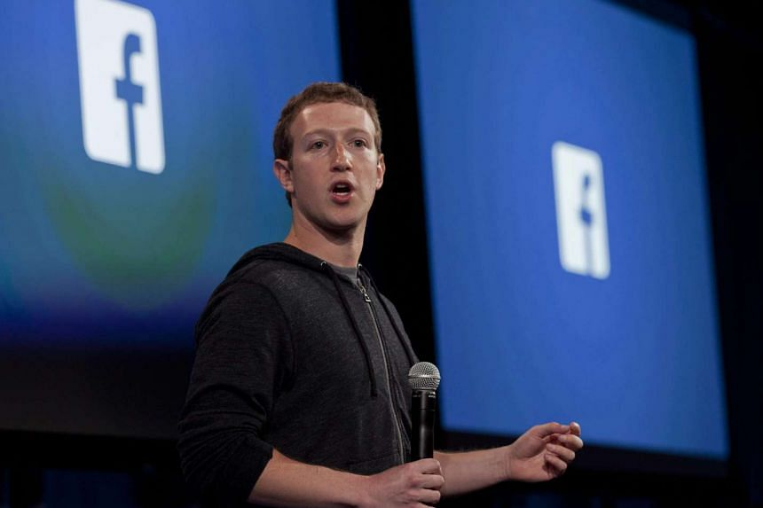 Mark Zuckerberg speaking during an event at the Facebook headquarters in Menlo Park, California.