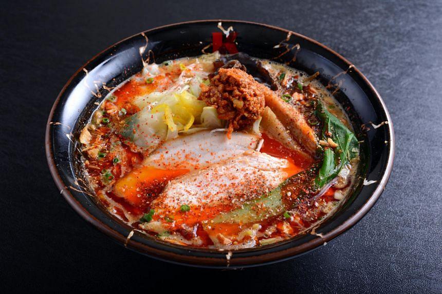 Spicy miso lobster broth ramen from Ramen Keisuke Lobster King.