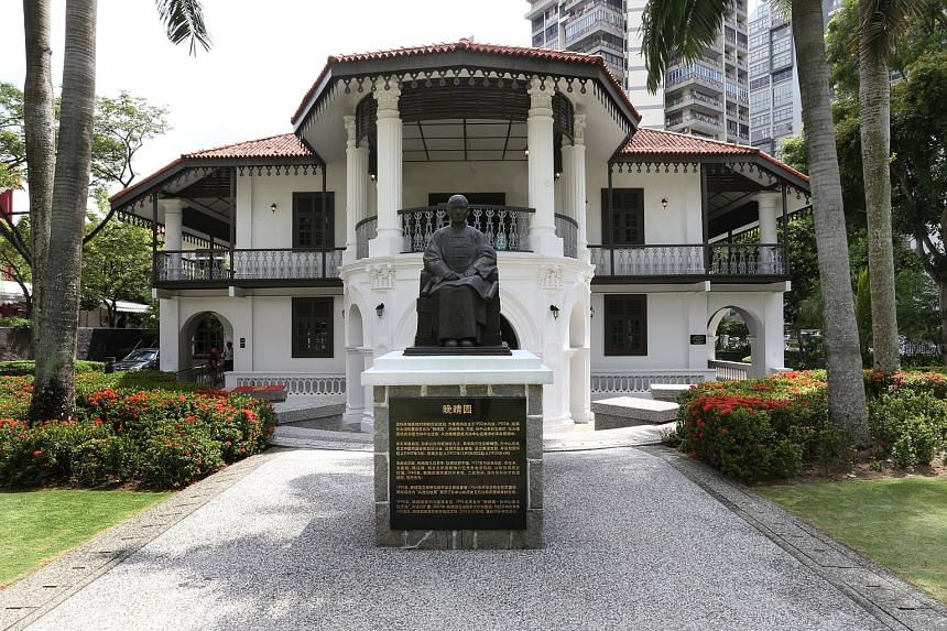 The Sun Yat Sen Nanyang Memorial Hall was where Sun Yat Sen planned three of 10 uprisings that gave birth to modern China. There are two bronze statues of him in the garden, one sitting and one standing. Dr Tan has been the curator at the villa since