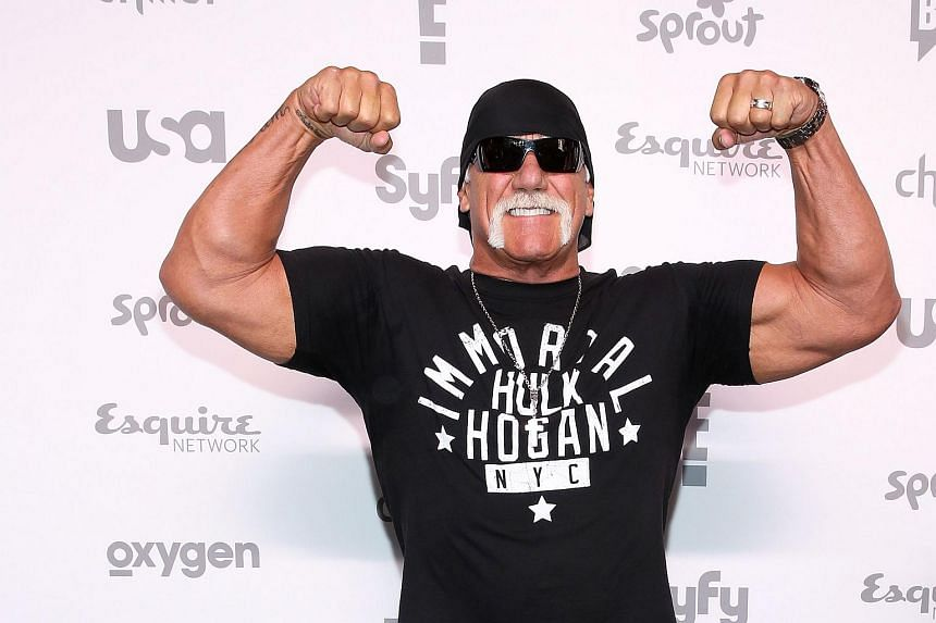 Hulk Hogan attending the 2015 NBCUniversal Cable Entertainment Upfront at The Jacob K. Javits Convention Center in New York City.