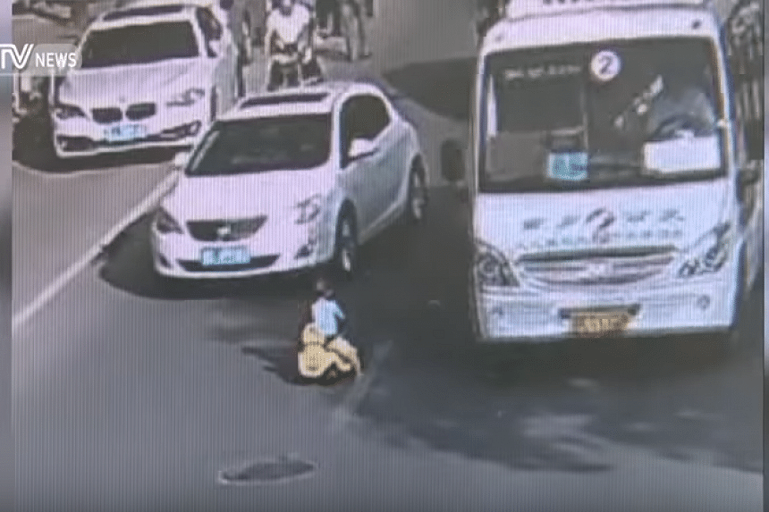A nail-biting video of a toddler taking his toy car out for a joy ride on a busy road went viral in China earlier this week.