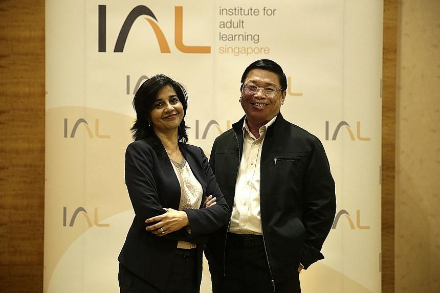 Adjunct adult educators Parveen Sandhu and William Thien. Under the plan to transform the training and adult education sector, training providers will be able to access up-to-date information about in-demand skills or emerging ones.
