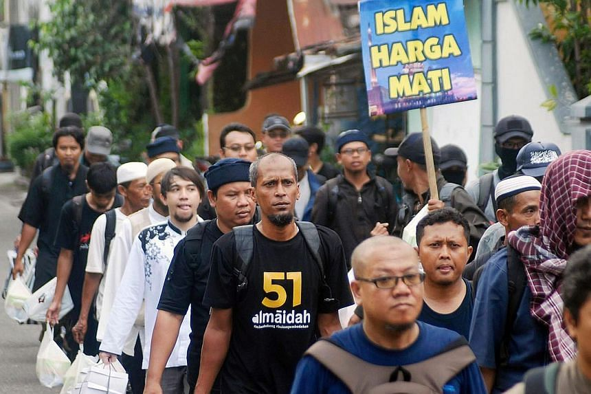 Security has been tightened in Jakarta ahead of the protest against Governor Basuki, who faces allegations of blasphemy. More than 20,000 policemen and soldiers have been mobilised.