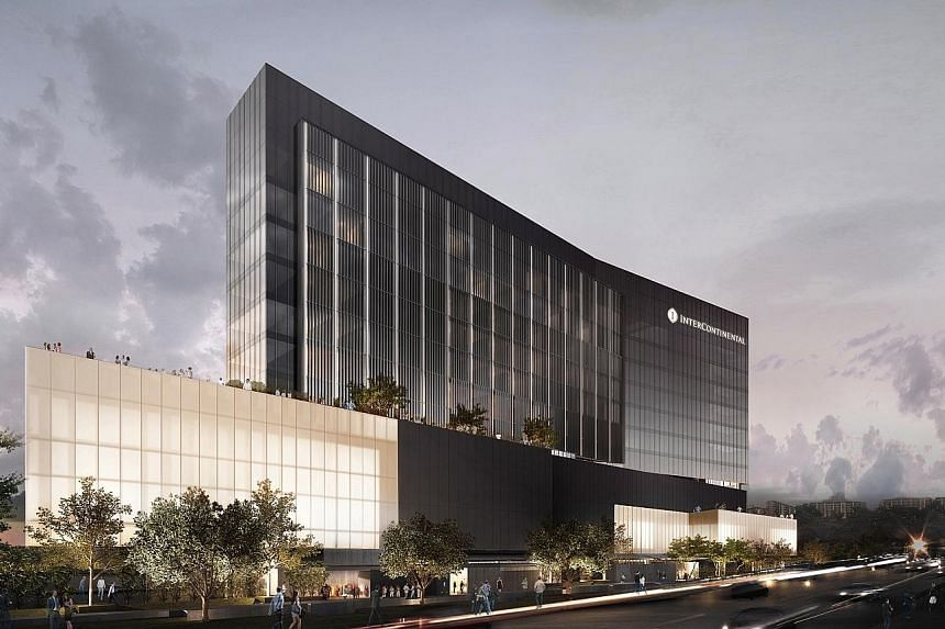 Artist's impression of the InterContinental Singapore at Robertson Quay, due to open next year.