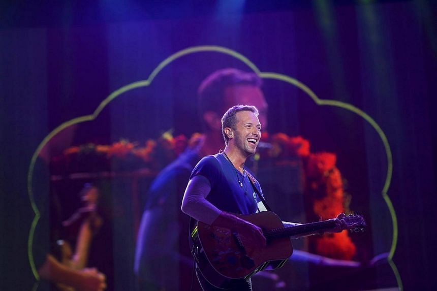 Chris Martin of Coldplay performs during the fifth annual Made in America Music Festival in Philadelphia, Pennsylvania on Sept 4, 2016.