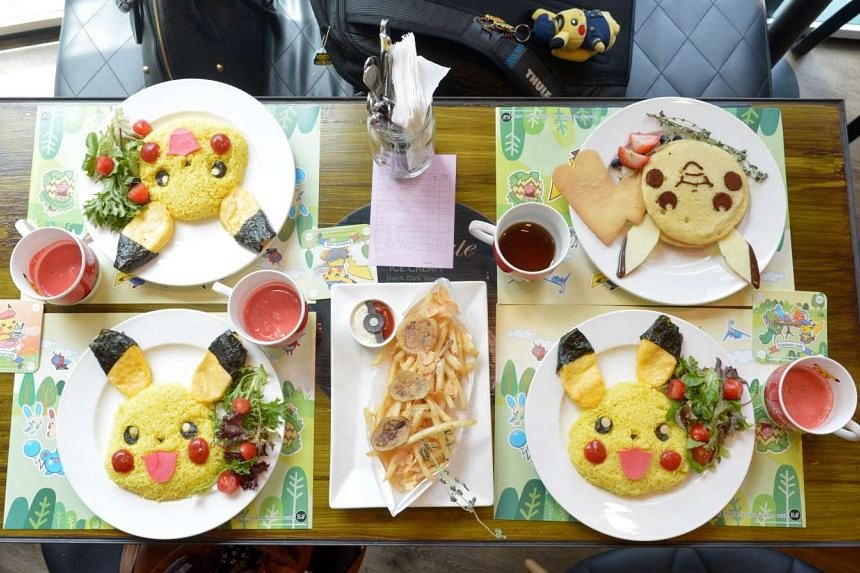 Meals from the popular Pokemon-themed Cafe in Bugis Junction.