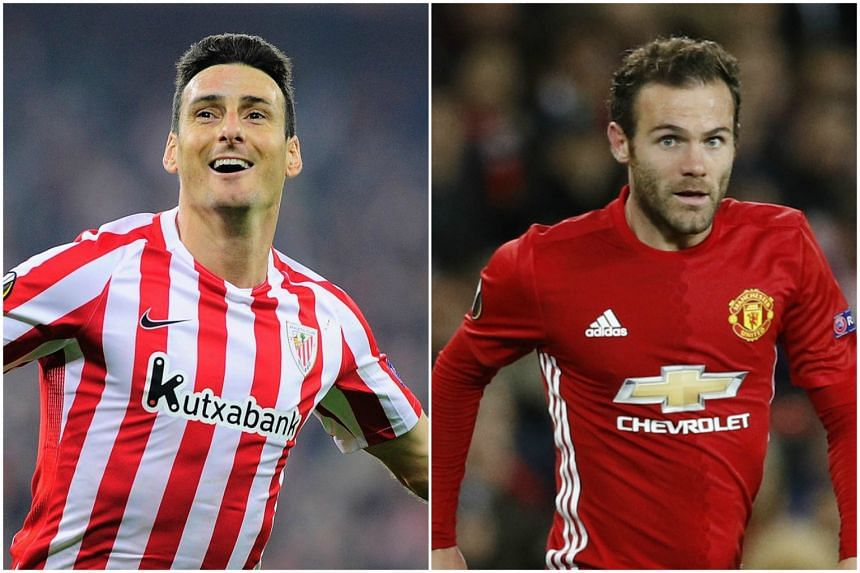 Aritz Aduriz (left) and Juan Mata have been named to the Spanish team for this month's World Cup qualifier against Macedonia and the friendly against England.