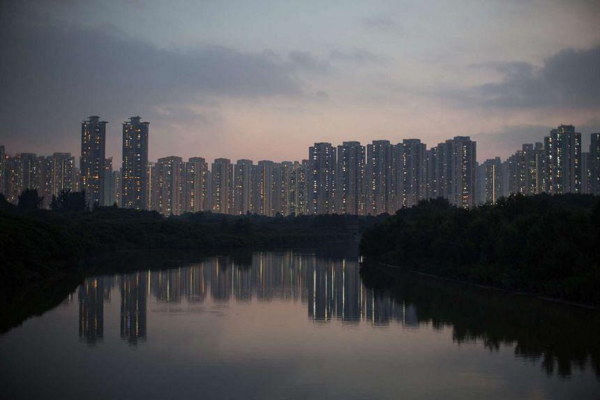 Residential buildings in Hong Kong.