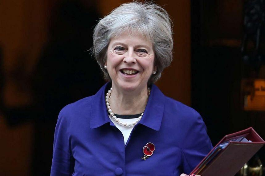 British PM Theresa May leaving 10 Downing Street on Nov 2, 2016.