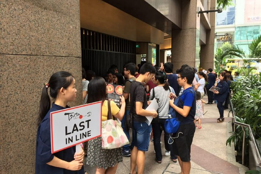 There were 120 people in the queue at around 10.40am before the store opened at 11am.
