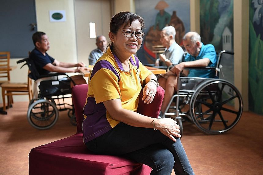 Ms Lagman, 62, joined Lentor Residence as a patient-care assistant four years ago, around a year after retiring from her job in a family business.