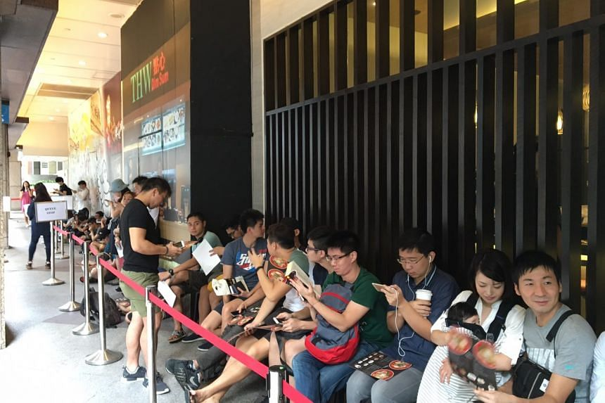 The queue for Michelin-starred Tsuta swelled to about 40 people at around 9.25am.