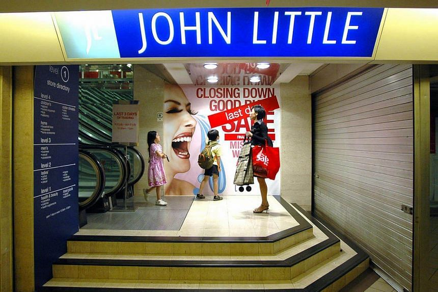 The John Little store at the Specialists' Shopping Centre which closed in 2007. Its last remaining outlet at Plaza Singapura will shutter by the end of the year.