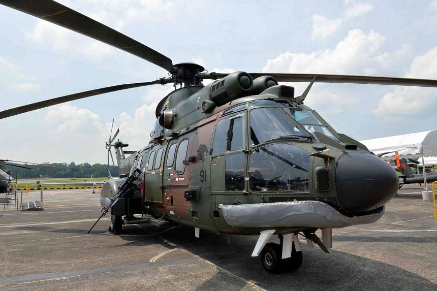 The RSAF will be replacing its ageing Super Puma (pictured) and Chinook helicopters.