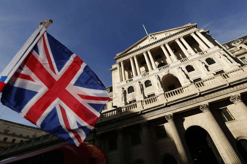 A British Union flag in front of the Bank of England in London on Nov 2, 2016.