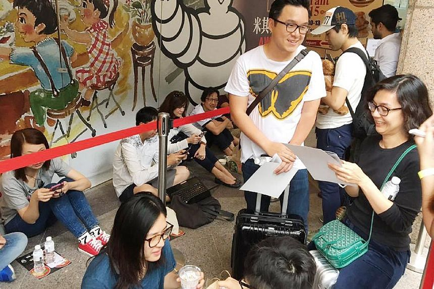For a bowl of shio or shoyu ramen at Tsuta, the world's only Michelin-starred ramen eatery, Indonesian businessman Sugirato Alim, 35, and his wife, Ms Yenita Jayanata, 32, waited for about two hours - during their nine-hour stopover on a flight from