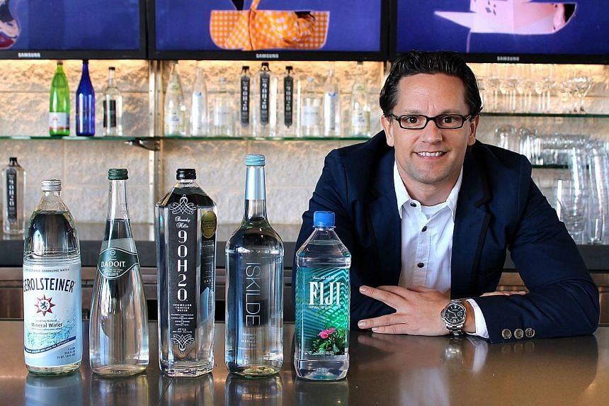 Mr Riese, the only water sommelier in the US, does exactly what a wine somm does, but with water. In June, he was a judge at a water-tasting contest in Guangzhou, China.