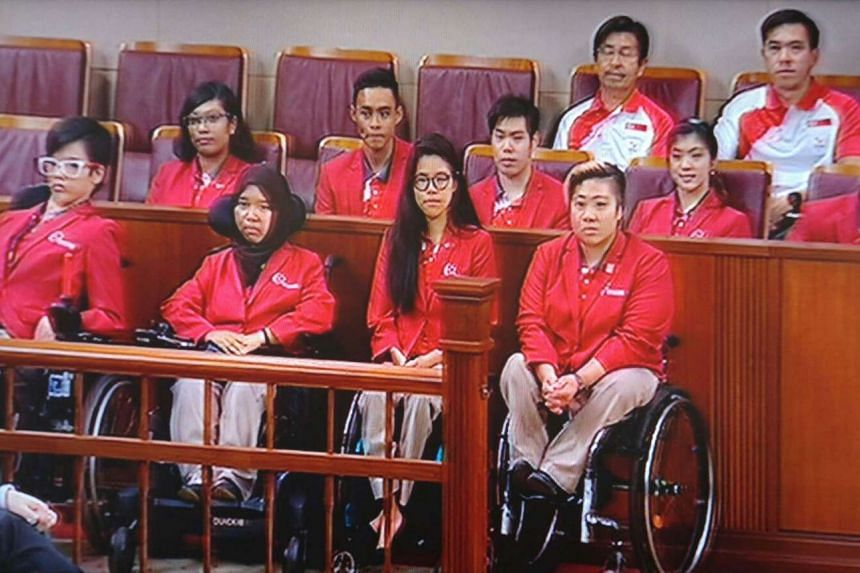 Team Singapore's Paralympians were honoured in a parliamentary motion on Monday (Nov 7) for their achievements at the Rio de Janeiro Games.