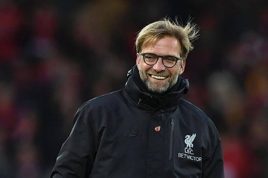 Jurgen Klopp reacts following the English Premier League football match between Liverpool and Watford at Anfield in Liverpool on Nov 6, 2016.