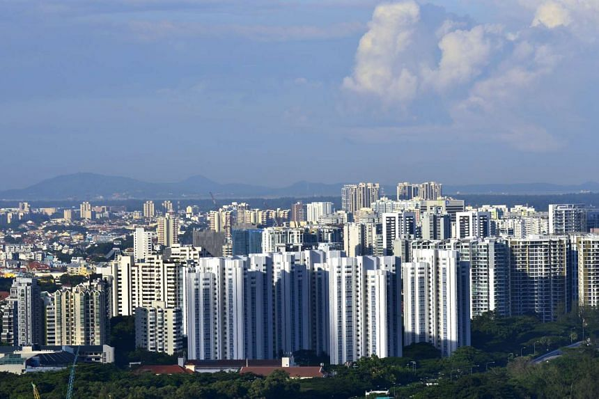 Resale prices of condominium units and apartments fell by 0.7 per cent in October from September.