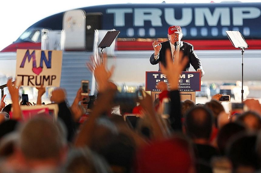 Republican Senator John McCain is running for a sixth term in Arizona and could be re-elected because of Latino support. Republican nominee Donald Trump rallying supporters in a cargo hangar at Minneapolis Saint Paul International Airport in Minnesot