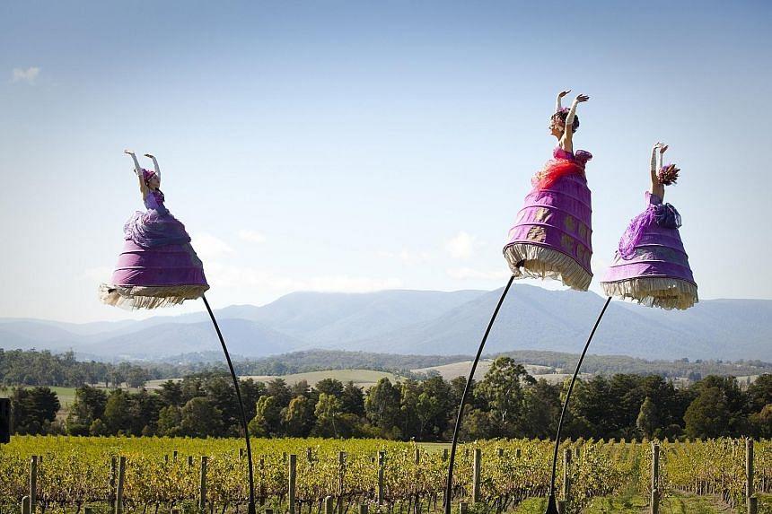Australian company Strange Fruit Productions presents The Three Belles (above).