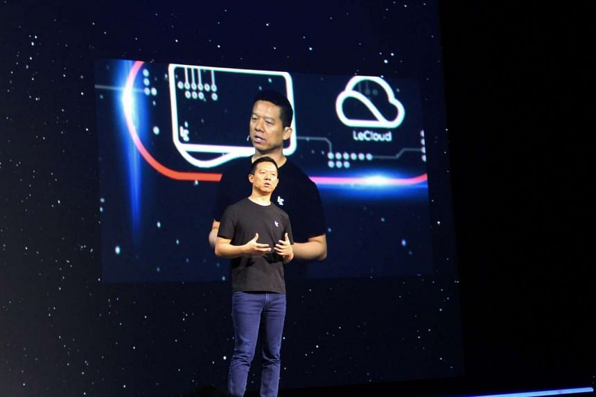 LeEco co-founder and chief executive Jia Yueting at a press event in San Francisco.