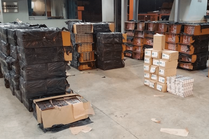 4,500 cartons of contraband cigarettes, worth over $460,000 in potential duty and Goods and Services Taxes were seized at Jurong Port checkpoint.