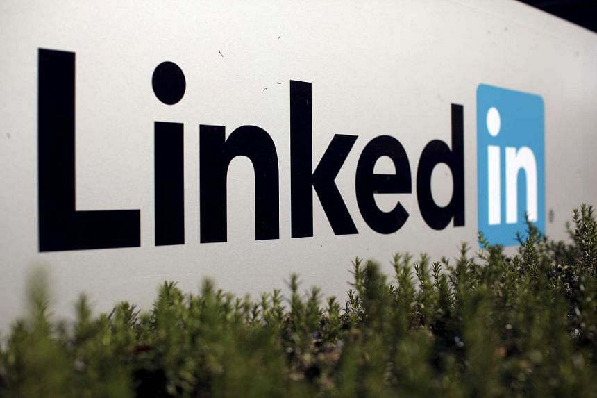 The logo for LinkedIn Corporation is shown in Mountain View, California.