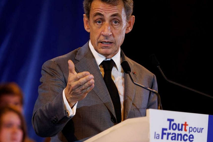 Former French president and candidate for the right-wing Les Republicains party primary ahead of the 2017 presidential election, Nicolas Sarkozy speaks during a campaign meeting in Dozule, on Sept 26, 2016.