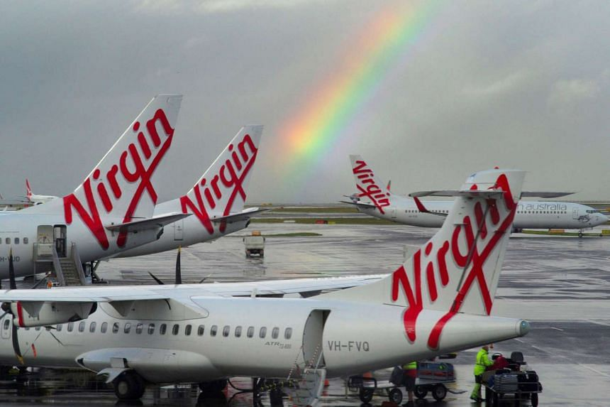 Virgin Australia aircraft at Sydney's Airport in Australia.