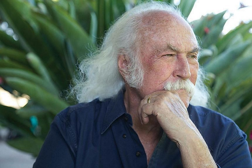 The nine-track Lighthouse is the latest album by David Crosby (above).