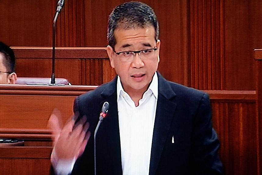 """Mr Tong (above left) suggested the WP wanted to """"have a platform to politicise issues"""", while Mr Zaqy said a president's moral authority can be earned only by being elected."""