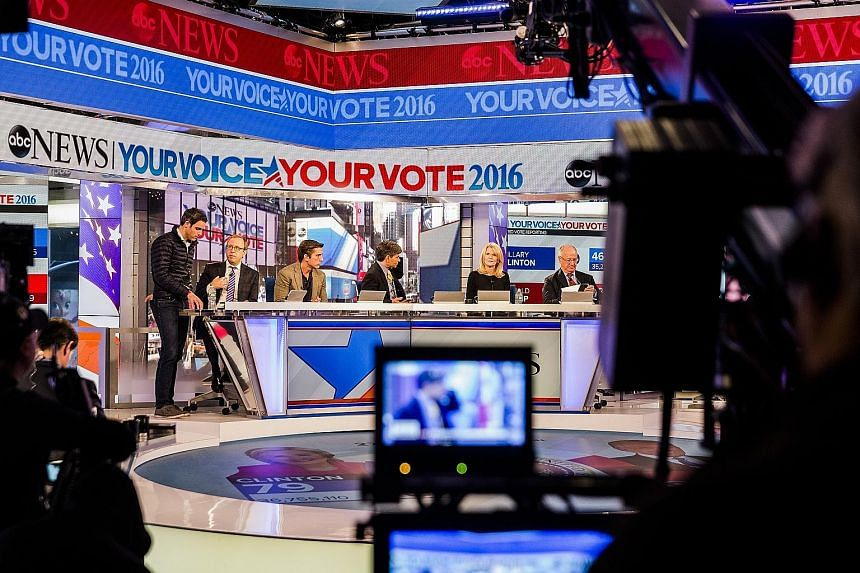 ABC News anchors and correspondents rehearsing for the big event - coverage of the US elections. With a divided electorate, big segments of which are poised to question the veracity of today's results, traditional media has its work cut out trying to