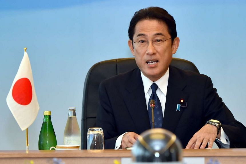"""Foreign Minister Fumio Kishida said that """"Japan has no intention at all of possessing nuclear weapons""""."""
