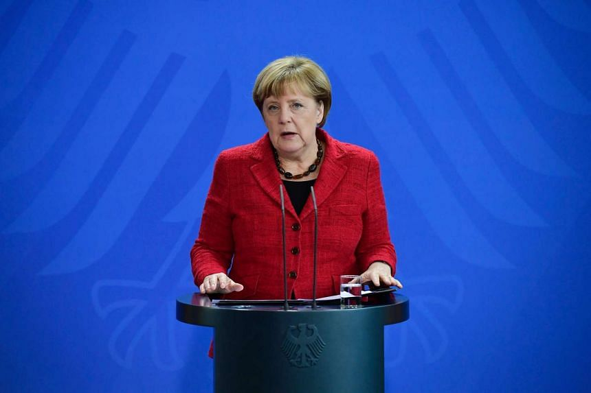German Chancellor Angela Merkel gives a statement to comment on the result of the US presidential elections on Nov 9, 2016 in Berlin.