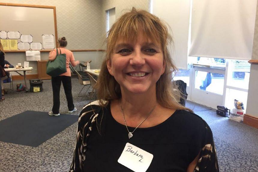 Ms Barbara Lustik, Jr, 48, a polling location coordinator at Brecksville Community Centre in Ohio.