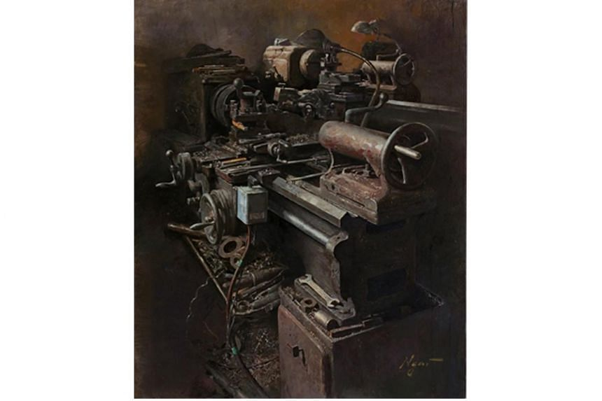 Mr Carey Ngai won the UOB Painting of the Year in the Established Artist category for Industry 2.0 III (Oil on canvas).