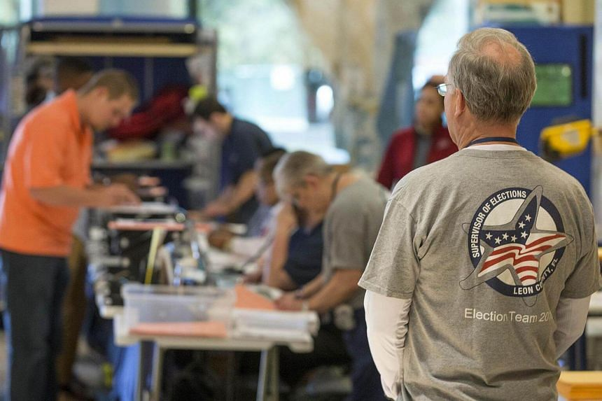 A Leon County Supervisor of Elections poll worker watching the election process at the Leon County Courthouse on Nov 8, 2016, in Tallahassee, Florida, United States.