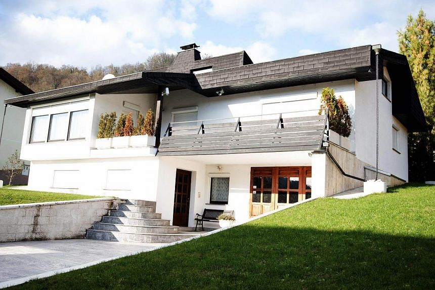 The home of Mrs Melania Trump's parents in the small town of Sevnica, Slovenia.