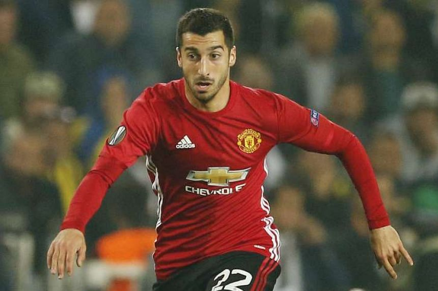Manchester United's Henrikh Mkhitaryan made five of his six appearances this season from the bench.