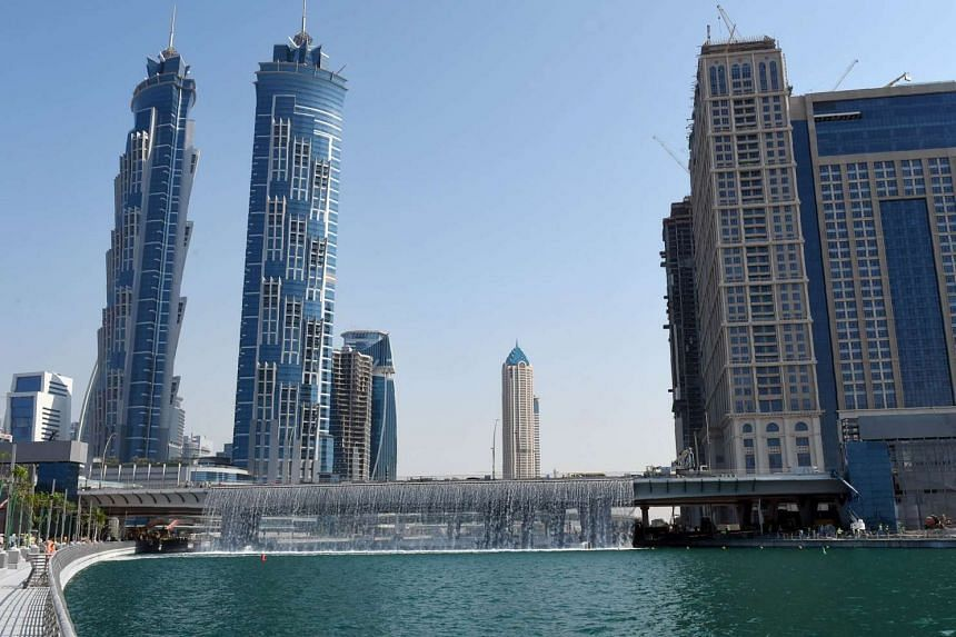 """A handout image released by the media office of Sheikh Mohammed bin Rahid al-Maktoum, the ruler of Dubai, on Nov 9, 2016 shows a view of the """"Dubai Water Canal""""."""