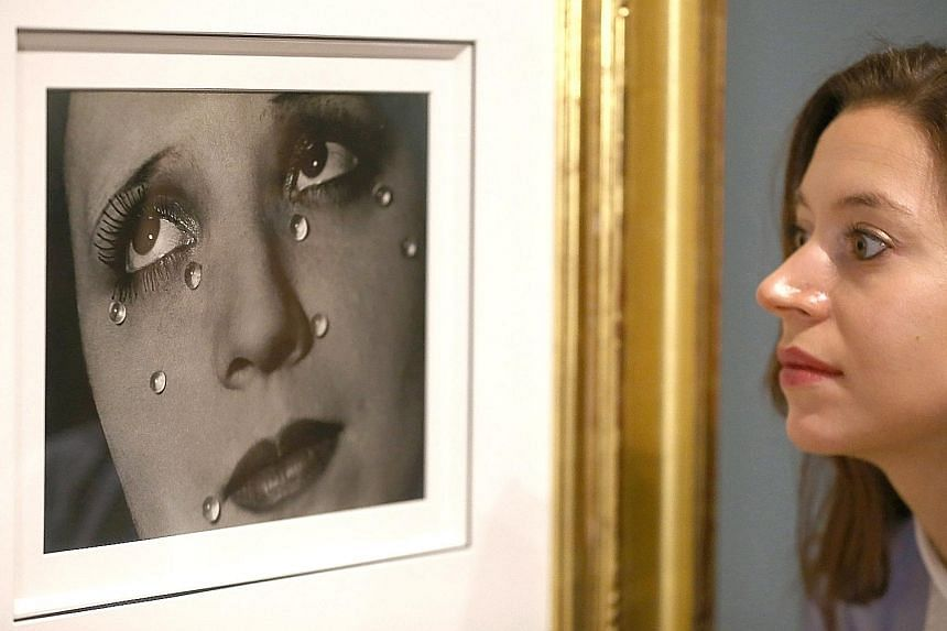 Glass Tears (1932) by American visual artist Man Ray at The Radical Eye - Modernist Photography From The Sir Elton John Collection at the Tate Modern in London. The exhibition of photos from the singer's private collection features about 150 rare vin