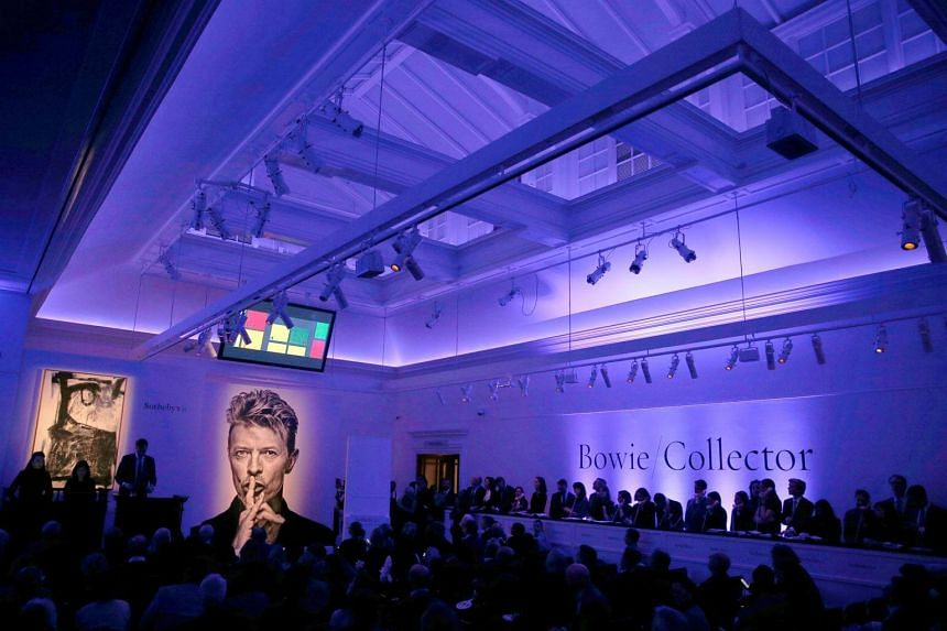 Lights are dimmed ahead of the Bowie/Collector auction, a sale of David Bowie's private art collection.