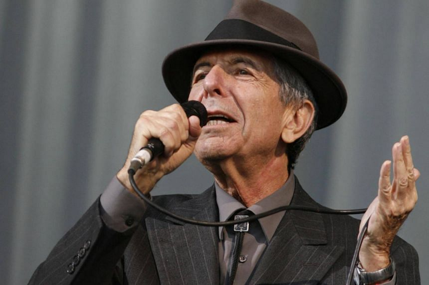 Leonard Cohen performing at the Glastonbury Festival 2008 in Somerset, south-west England, on June 29, 2008.